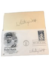 1983 Babe Ruth FDC Autographed by Whitey Witt W/ Autographed Card - $73.50