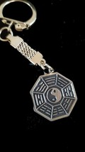 om sign with chainmail keyring  bronze keychain keyring