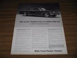 1963 Print Ad Wide-Track Pontiac Tempest Fleet Cars Pontiac,MI - $13.96