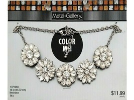 Metal Gallery 18 Inch Rhinestone Necklace #1371004