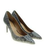 CALVIN KLEIN Gayle Womens Sz 7 Gray Snakeskin Animal Print Point Toe Heels - $29.69