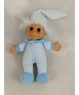 "Russ Troll Doll Plush 6.5"" Blue Pajamas Stuffed - $9.13"