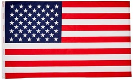3X5' American Flag Made In Usa Stars Embroidered Sewn Grommets Stripes N... - $7.21