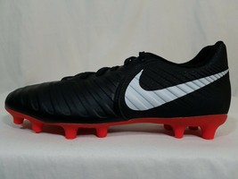 Nike Tiempo Legend 7 Club FG Soccer Cleats Size 5 Black Rugby Cleats AO2597-006 - $9.99