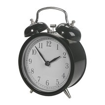 NEW DEKAD ALARM CLOCK ANTIQUE DESIGN NEW BLACK  - $16.00