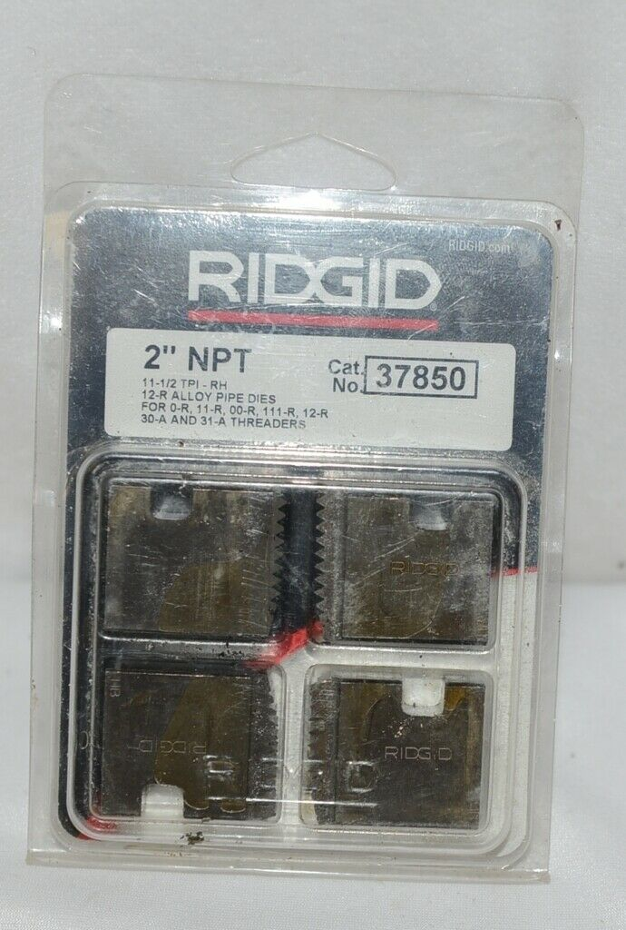 Ridgid Product Number 37850 2 inch NPT Pipe Threading Die