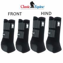 Classic Equine Legacy2 Horse Front Hind Sports Boots 4 Pack Blue U-02BK - $173.98