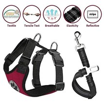 Lukovee Dog Safety Vest Harness Seatbelt, Dog Car Harness Seat Belt Adju... - $15.02