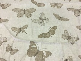 Gray Butterfly Insect Motif Upholstery Multi-Purpose Fabric 1 yard - $14.25