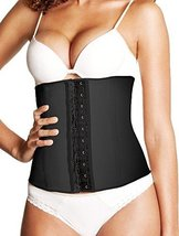 Elka Natural Rubber Belt Waist Cincher Black (L)
