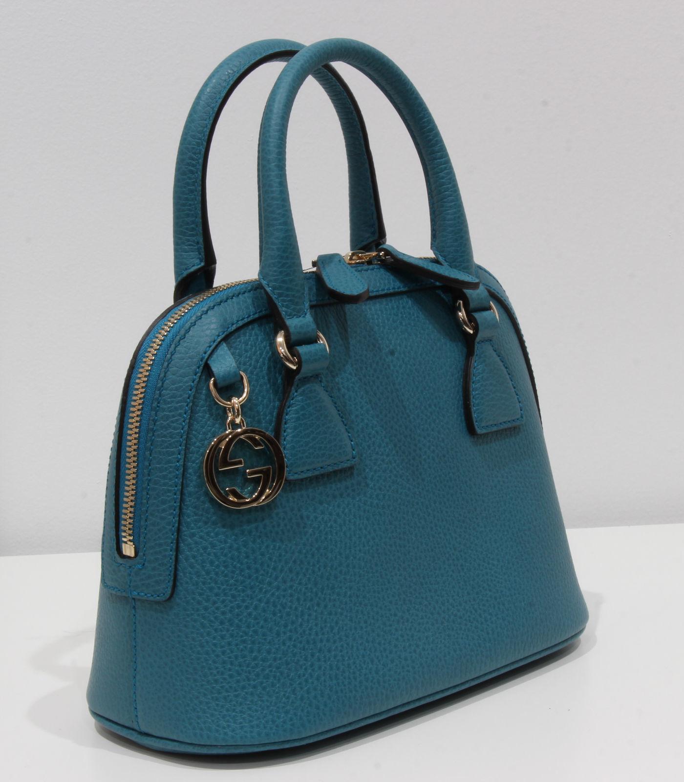 e2764858332 ... GUCCI 449661 Interlocking G Convertible Mini Dome Leather Handbag