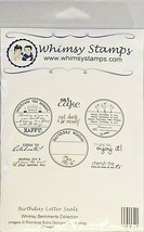 Whimsy Stamps Birthday Letter Seals Rubber Stamp Set #10205