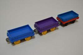 2012 Gullane Mattel Thomas the Train Low Cargo Trucks Lot of 3 - $15.96