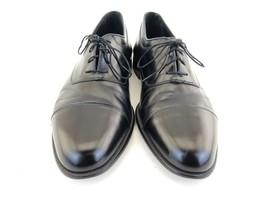 Johnston & Murphy Mens Dress Shoes Black Leather Cap Toe Oxfords Italy S... - $26.10