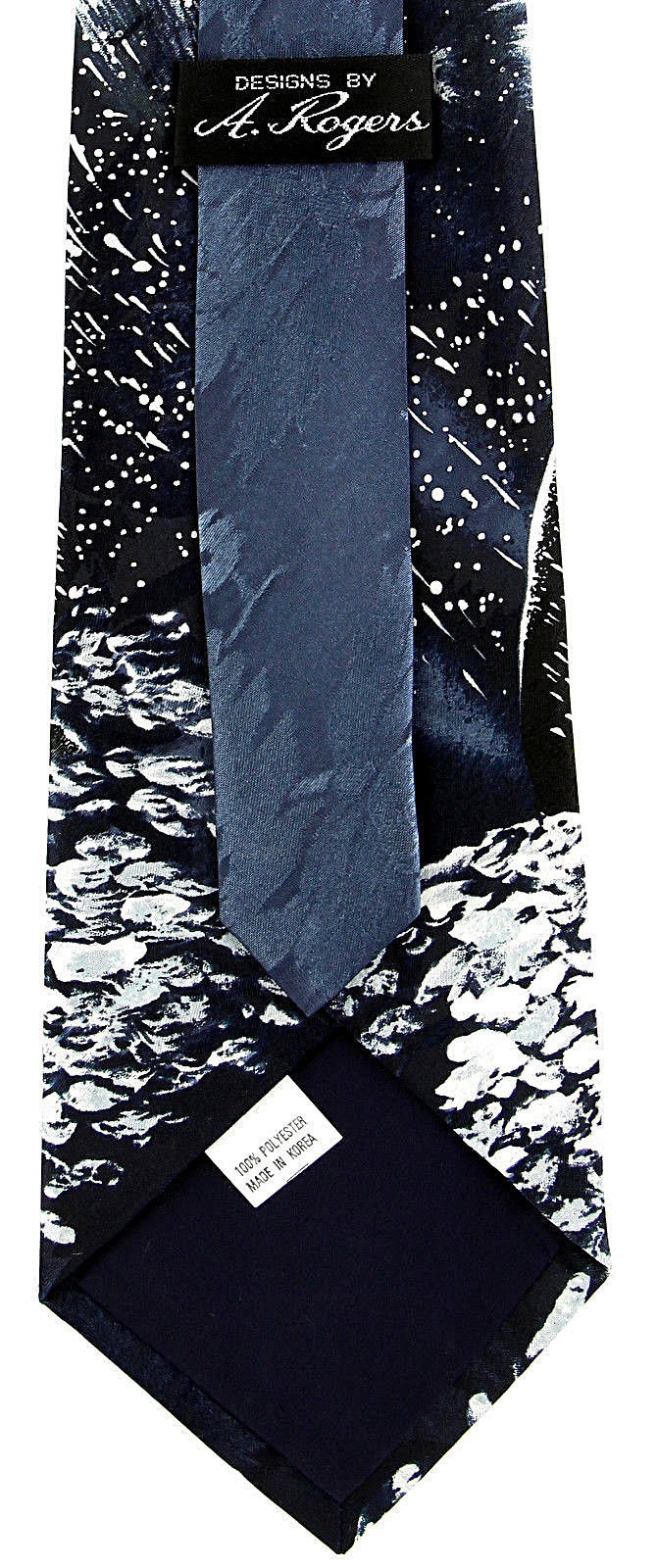 Artic Penguins Men's Neck Tie Aquatic Sea Bird Novelty Animal Blue Necktie image 4