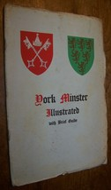 1950 VINTAGE YORK MINSTER WITH GUIDE BOOK 45 ILLUSTRATIONS - $9.89