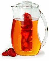 Fruit Infusion Infuser Water Pitcher. 2.9 Quart (2.75 Liters) Lemon Her... - $47.90 CAD