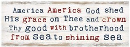 Dunn Patriotic Decor - America God Shed His Grace Sign - $12.95