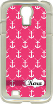 Monogrammed Pink Faith Anchors on Samsung Galaxy S4 Hard or Rubber Case Cover - $15.95