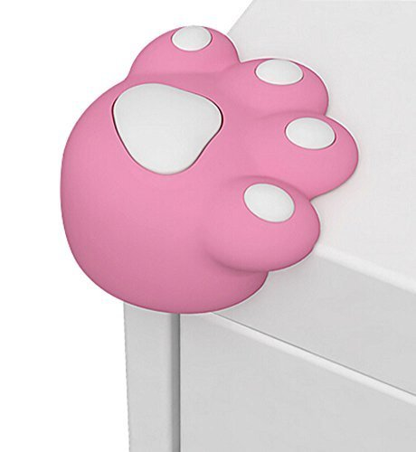 Set of 4 Bear Paw Baby Safe Table Corner Guard Cushion Corner Protectors PINK