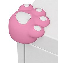 Set of 4 Bear Paw Baby Safe Table Corner Guard Cushion Corner Protectors PINK