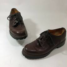 Timberland 12 Dress Shoe Mens Leather Brown Waterproof Rubber Sole Lace Up - $22.27