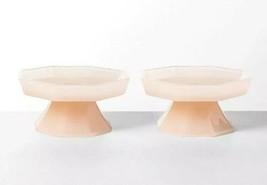 Hearth & Hand 2 Magnolia PINK Milk Glass Beaded Edge Cupcake Stands  NWT - $22.05