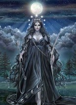 Full Coven 27X Great Goddess Triple Moon Work Magick W/ Jewelry Witch Cassia4 - $38.00