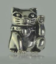 HOT Maneki Neko Sterling silver Jewelry Lucky Money cat Charm bead Buddha 4 brac - $15.14