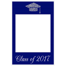 Class of 2017 Graduation Diamond Hat Blue Social Media Selfie Frame Poster - $16.34+