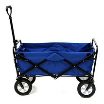 Mac Sports Collapsible Folding Outdoor Utility Wagon, Blue - $114.06