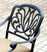 Outdoor patio bar stool swivel Elisabeth cast Aluminum furniture Bronze image 4