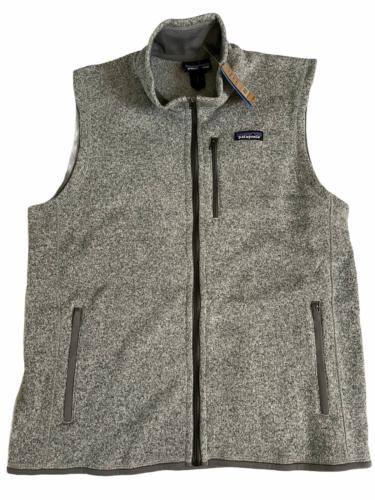 NWT New Patagonia Men L Large Better Sweater Vest Stonewash Grey Fleece