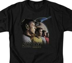 Star Trek T-shirt Retro 60s original crew Kirk  Spock graphic tee CBS108 image 2