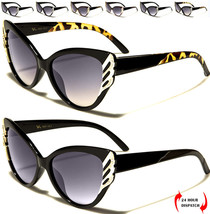 NUOVO VG Donna Occhio Di Gatto Strass Moda Occhiali da sole da guida UV400 - $15.50