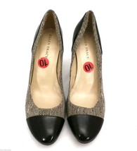 "Ellen Tracy Tweed & Black Leather High Heeled Shoes Pumps  NWT 10M 3.5"" Heel - $39.50"