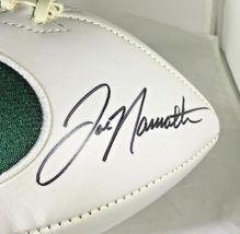 JOE NAMATH / NFL HALL OF FAME / HAND SIGNED NEW YORK JETS LOGO WHITE FOOTBALL image 3
