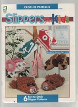 Slippers for Kids - Crochet Patterns - SC - 1995 - House of White Birches. - $3.43