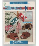 Slippers for Kids - Crochet Patterns - SC - 1995 - House of White Birches. - $5.87