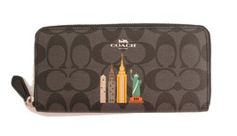 COACH NYC SLIM ACCORDION ZIP WALLET IN SIGNATUR... - $145.43