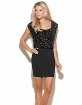 GUESS Los Angeles JANESSA Dress LEOPARD Animal PRINT Top BLACK Banded Sk... - $99.95