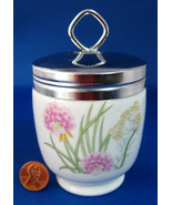 Mid Century King Egg Coddler Herbs Spices Mid Century Porcelain Chives 1... - $24.00