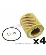 BMW X1 X3 X5 X6 Z4 etc. (2006+) Oil Filter Kit  (Set of 4) MAHLE + Warranty - $55.90