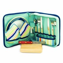 Picnic Time Piatto Travel Pack with Wine and Cheese Accessories for 2, S... - $39.59