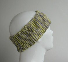 eco friendly lemon-lavender merino wool womens headband, soft ear warmer - $9.90
