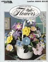 Crocheted Flowers w/ Bedspread Weight Cotton Thread Leisure Arts 2293 1992 - $19.79