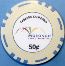 50¢ Casino Chip, Morongo, Cabazon, CA. S35. - $4.29