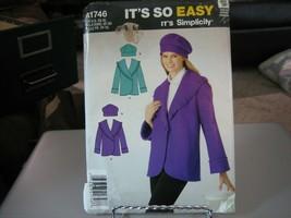 Simplicity A1746 Misses Fleece Jacket & Hat Pattern - Size XS-XL - $8.90