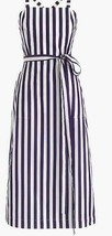 Thomas Mason for J.Crew Women's Striped Apron Dress Navy Sz 4 G5274 - $82.79