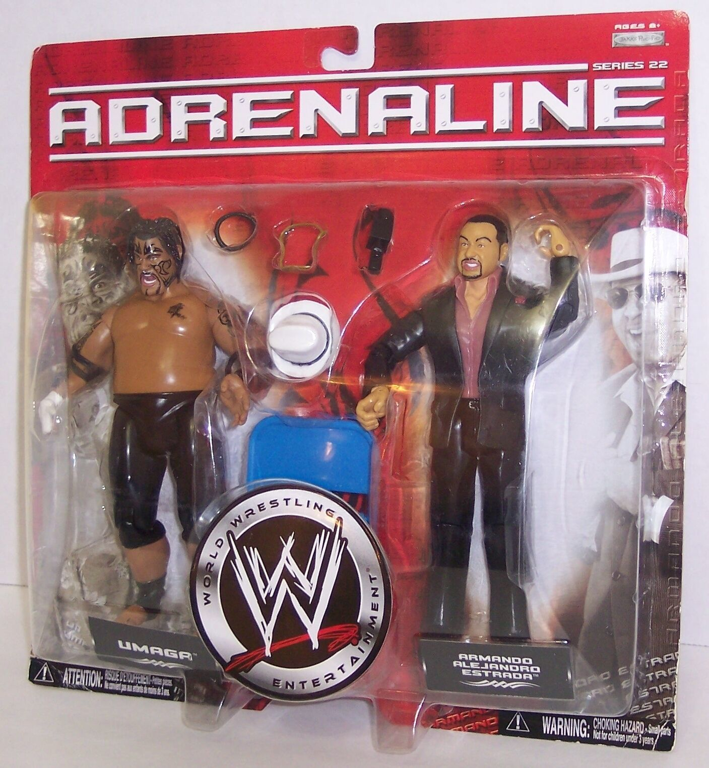 "Primary image for NEW! 2006 Jakk's Adrenaline ""Umaga"" & ""Estrada"" Action Figure Set WWE [1484}"